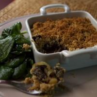 Crumble Boudin Noir, Pommes, Oignons