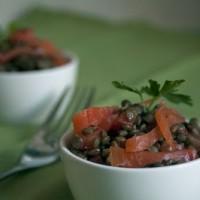 Salade de Lentilles et Truite Fumée