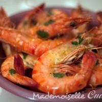 Crevettes à l'ail et à la coriandre (à la portugaise)