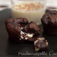 Fondant au chocolat coeur coulant au chocolat blanc