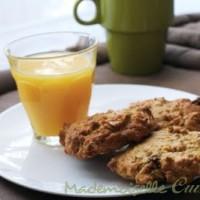 Cookies céréales et figues (et sans beurre)