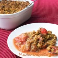 Crumble fraises rhubarbe