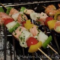 Brochettes de poisson