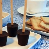 Sucettes de chocolat à fondre
