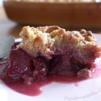 Crumble quetsches figues