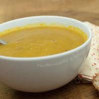 Soupe courge carotte au gingembre