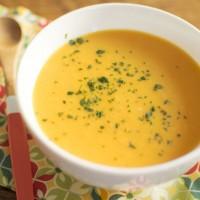 Soupe Butternut et gingembre rôti pour Amoureusement Soupe