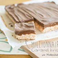 Millionaire's caramel krispies squares
