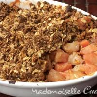 Crumble Coings Pommes et noisettes (sans beurre)