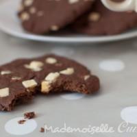 Cookies cacao et pépites de chocolat blanc - sans beurre