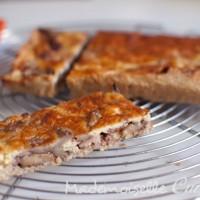 Quiche cèpes et lard avec pâte à tarte au quinoa