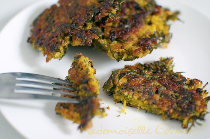 Galettes de fanes de carottes mademoiselle cuisine - Comment utiliser le curcuma dans la cuisine ...