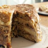 Pudding pommes et raisins (avec les restes de pain)
