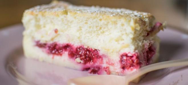 Gâteau magique citron framboises